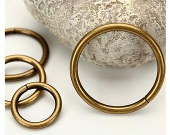 Antique Bronze Round Clasp for Bag Purse, Chains, Handle or Straps, 2.0cm - 3.2cm, 20 PCS, R0091
