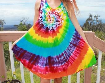 Tie Dye Free Size Rayon Dress Plus size
