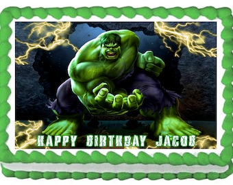 INCREDIBLE HULK Image Edible cake topper party decoration