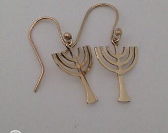 9ct Menorah earrings