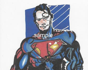 Henry Cavill Superman print