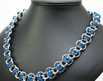 Blue Barrels Chainmail Necklace