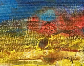 """Original Abstract Expressionist Oil Painting by Michigan artist  """"Wrong Path"""""""