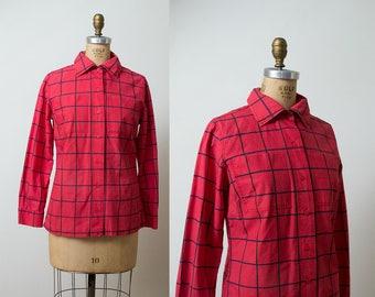 1970s Marimekko Shirt / 70s Button-Up shirt