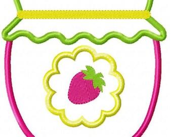 Strawberry Jam Machine Embroidery Design
