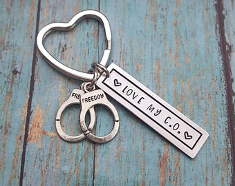 Corrections - Corrections Officer Spouse - Corrections Keychain - Love My C.O. - C.O. - Love - Law Enforcement - LEO - Correctional Officer