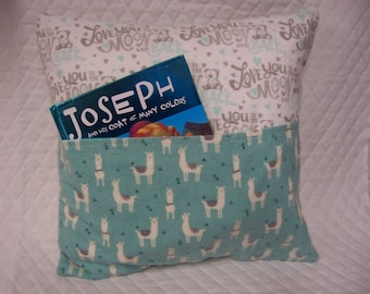 Lhama Reading Book Pillow 14X14