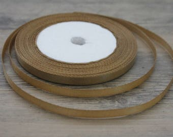 20 m of 6mm camel colored satin ribbon