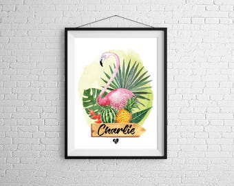 Personalized Flamingo poster