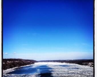 Fine art photography - Frozen River - Color photography