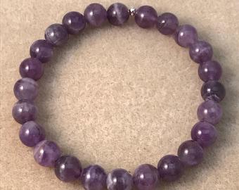 Auralite 23 Bracelet / Beaded Bracelets / Stretch Bracelets / 8mm Bracelet / Bead Bracelets / Couples Bracelets / Auralite 23 Jewelry