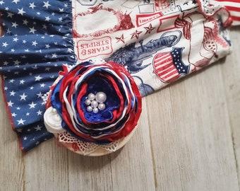 Patriotic couture headband