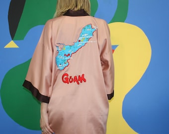 GUAM Souvenir Robe Embroidered with Island Details