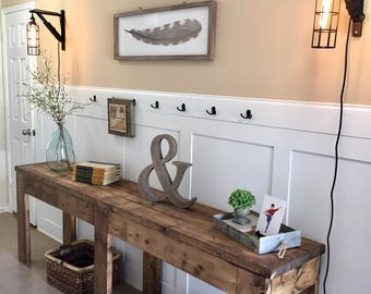 7 Foot Entry Way Table | TV Console | Rustic Table | Farmhouse Table | Foyer Table | Wood Table | Sofa Table | Entry Way Table