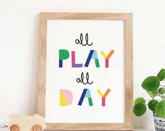Amazing Playroom Wall Art, Letu0027s Play, Nursery Decor, Playroom Decor, Playroom  Sign, Playroom Decal, Playroom Art, Playroom Wall Decor, For Playroom