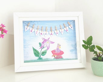Personalised picture frame little fairy