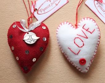 Heart felt ornament
