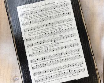 Great Is Thy Faithfulness Vintage Hymn Sign Display
