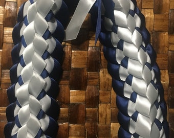 Choose Your Colors Satin Ribbon Double Lei
