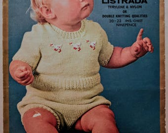 """Retro Lister Baby's Romper Suit Chest 20"""" and 22"""""""
