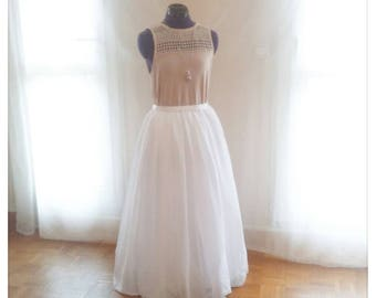 Chiffon and tulle skirt