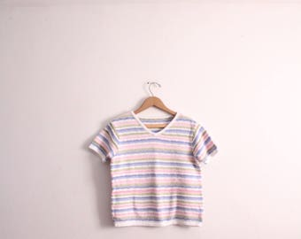 Pastel Striped 90s Sweater