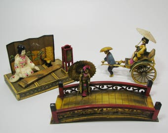 Amazing Japanese Celluloid Figurines Vintage 50's