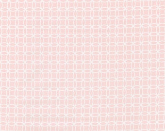 Pink Circles Fabric - By The Yard - Girl / Vintage / Fabric