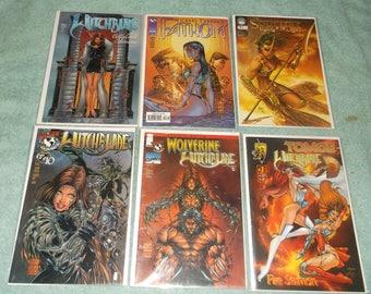 sci-fi comics-witchblade-lot of 6-1990-GD