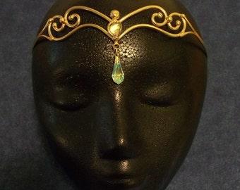 Bronze Two Crystal Circlet