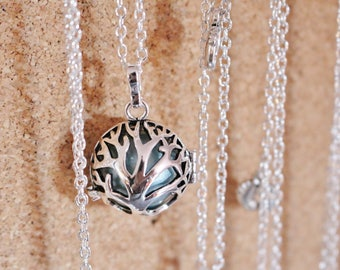 Bola pregnancy silver tree of life necklace