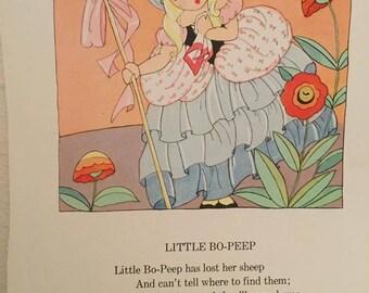 Vintage Mother Goose nursery rhymes