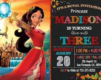 Elena of Avalor Invitation, Princess Elena Invitation, Elena of Avalor Birthday Party