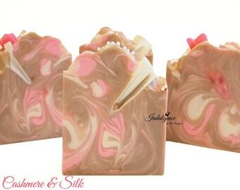 Soap-Cashmere & Silk, handmade soap, cold process soap, vegan soap, summer soap, floral soap