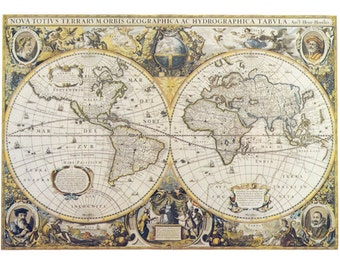 World map fabric etsy studio fabric yardage antique world map fabric on cotton sewing crafting maps on fabric gumiabroncs Choice Image