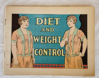 Diet and Weight Control - Advertising booklet - Dr. Miles Nervine - Owatonna, Minnesota MN