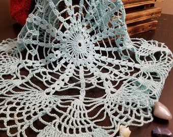 Light blue doily 18 inches