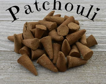 Patchouli Incense Cones - Hand Dipped Incense Cones