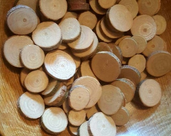 15x Small wood rounds 1-3cm