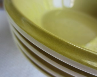 Vintage Mikasa Avocado Green Soup Bowl works with Strawberry Hill