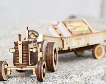 Tractor - building kit of the famous Zetor 25 and trailer