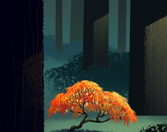 Tree Series: Japanese Maple - Limited Edition Print