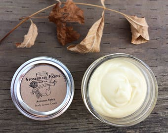 Cinnamon Spice Natural Body Lotion - Beeswax Lotion - Homemade Lotion Jar - Body Butter - Organic Lotion