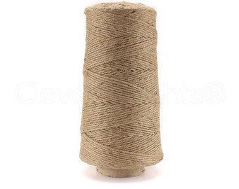 1000 Foot Jute Twine - 3 Ply - Premium Natural Jute Twine - Eco-Friendly Biodegradable - Bulk Wholesale Jute String Rope Roll Cone - USA