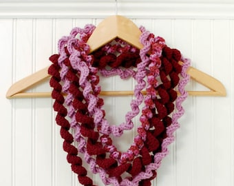 Crochet Pattern - Spiral Loop Scarf - Immediate PDF Download