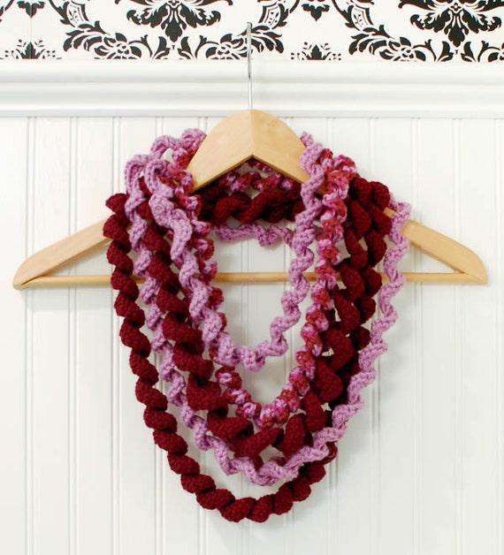 Crochet Patrón bufanda bucle espiral inmediata PDF