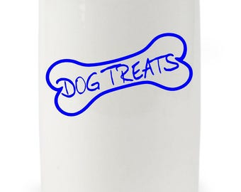 Dog Treats Decal / Dog Treat Labels / Dog Treat Car Decals / Dog Treats Window Stickers / Dog Treats Container Decal / Canister / 10822