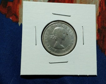 1962 Canada Canadian Quarter 25 cent Piece Coin Twenty Five 80 Percent Silver Queen Elizabeth II