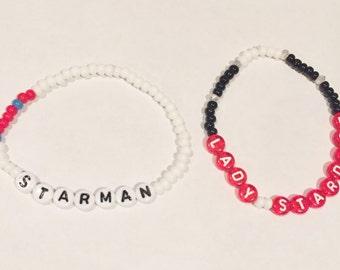 STARMAN / LADY STARMAN (David Bowie) Beaded Friendship Bracelets