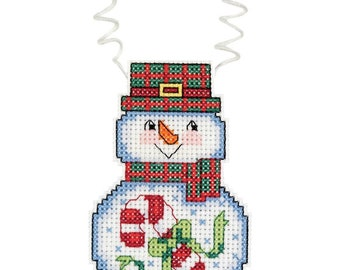 Wizzers: Snowman with Candy Cane ornament